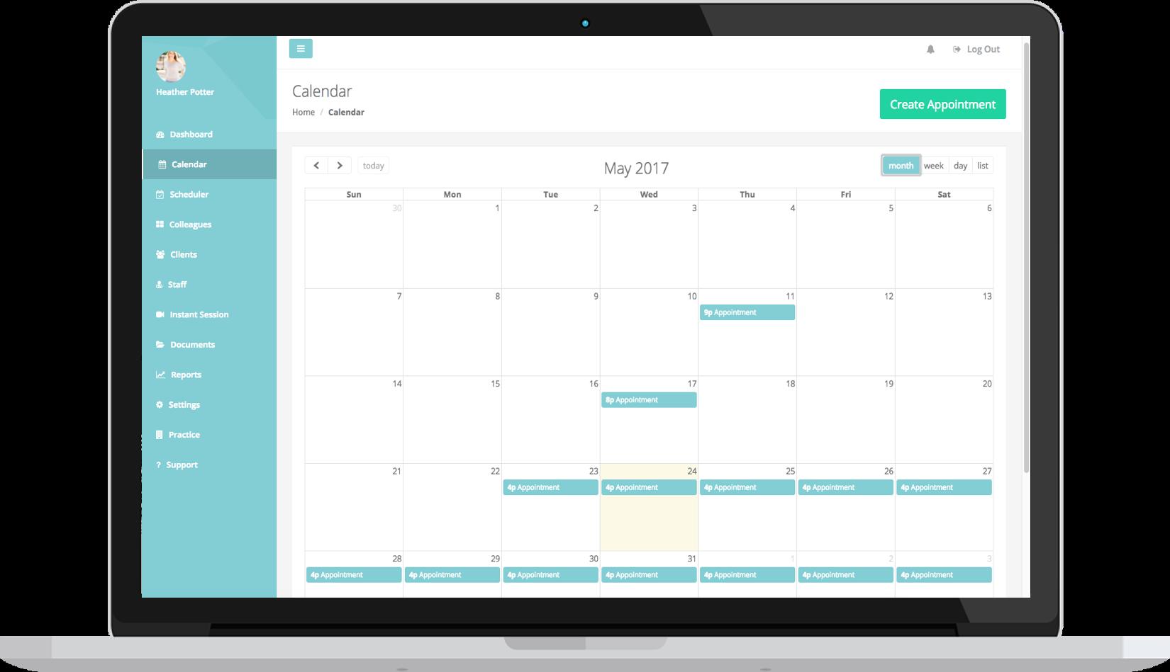 thera-LINK calendar