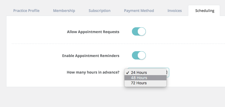 Appointment Reminder Settings