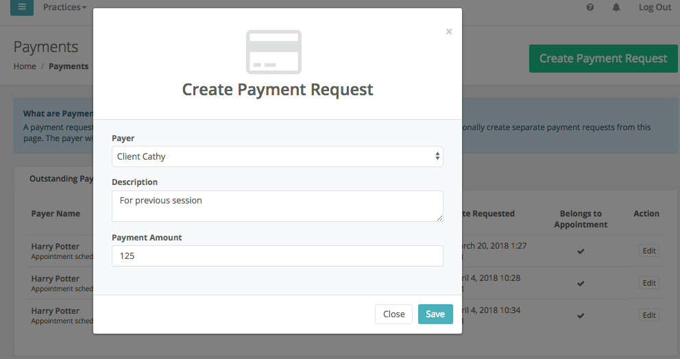 Create Payment Request